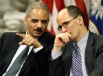U.S. Attorney Eric Holder and Assistant Attorney General for Ciivil Rights Tom Perez